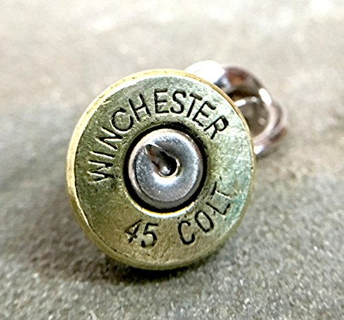 Bullet Shell Casing Tie Pin Tie Tack Colt 45