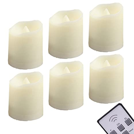 Outdoor Tea Lights Amazon led tealights candles remote control timer tea lights led tealights candles remote control timer tea lights flameless flickering votive candles include battery workwithnaturefo