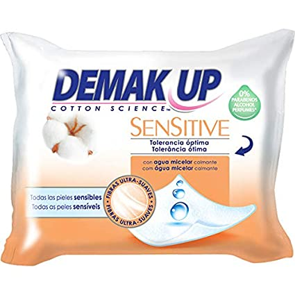 Demak-Up, Desmaquillante facial (Toallitas) - 3 de 20 unidades (Total