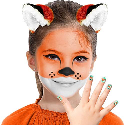 Almar Sales Company INC Fox Makeup Kit for Teens and Adults, Halloween Makeup, 8 -