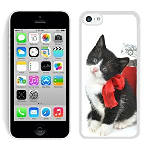 Personalize offerings Iphone 5C TPU Case Christmas Cat White iPhone 5C Case 27