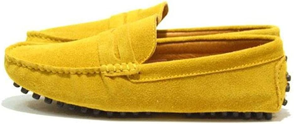 Lepor Penny Loafer Driving Shoes for Men//Sky Blue//US 6