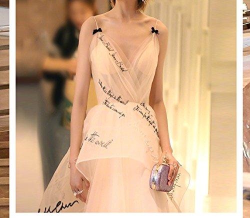 sera da per SHJJK donna da stile sera di d'oro Abito abbigliamento elegante XXL WOnOacS6