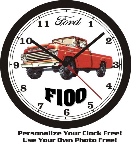 1959 FORD F100 PICKUP TRUCK WALL CLOCK-FREE USA SHIP-Choose 1 of 2