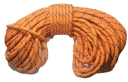 Double Braid Polyester Arborist Rope 3/4 inch Orange ()