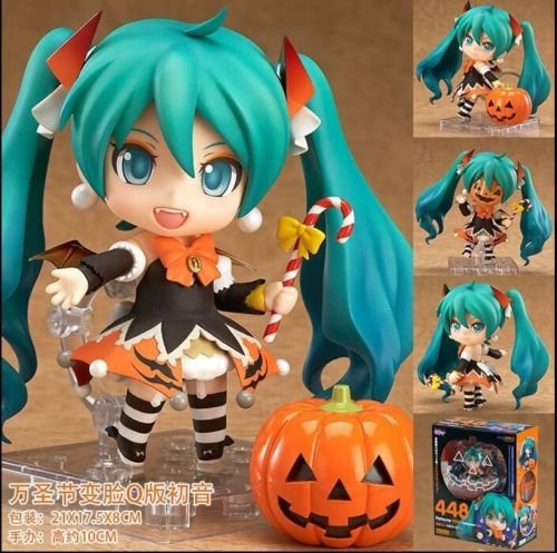 Ggtop miku Halloween ver. Nendoroid anime actin figure #448 New in Box a (Harley Quinn Arkham City Halloween Costume)
