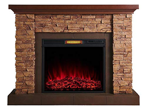 Comfort Smart Stackstone Electric Fireplace Mantel Package