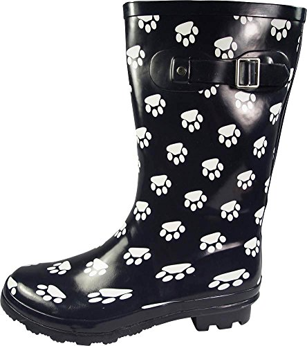 and Rainboots amp; Mid Paw Glossy Wellie NORTY Print Navy Waterproof Hurricane 14 Matte Calf Prints Solids Women's qxX8xO