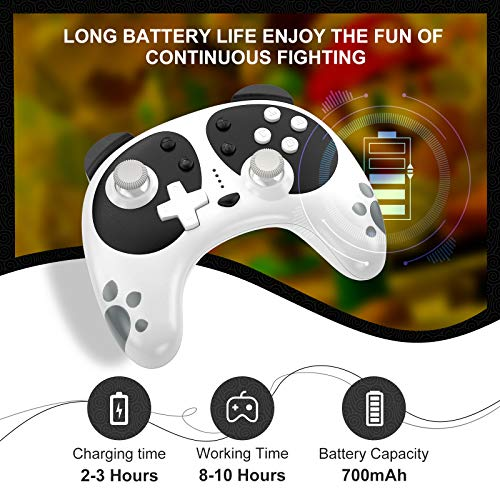 Wireless Pro Controller for Nintendo Switch, STOGA Panda Switch Controller with NFC Wake-up Function, Compatible with Switch Lite/PC, Support Motion Control Turbo Vibration 2021 New