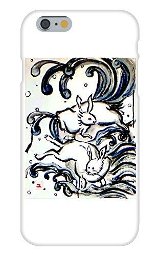 Obama Phone Costume (Rabbits and a Black Wave Mural Yuya Negishi YUYART - Apple iPhone 6 Custom Case White Plastic Snap On)