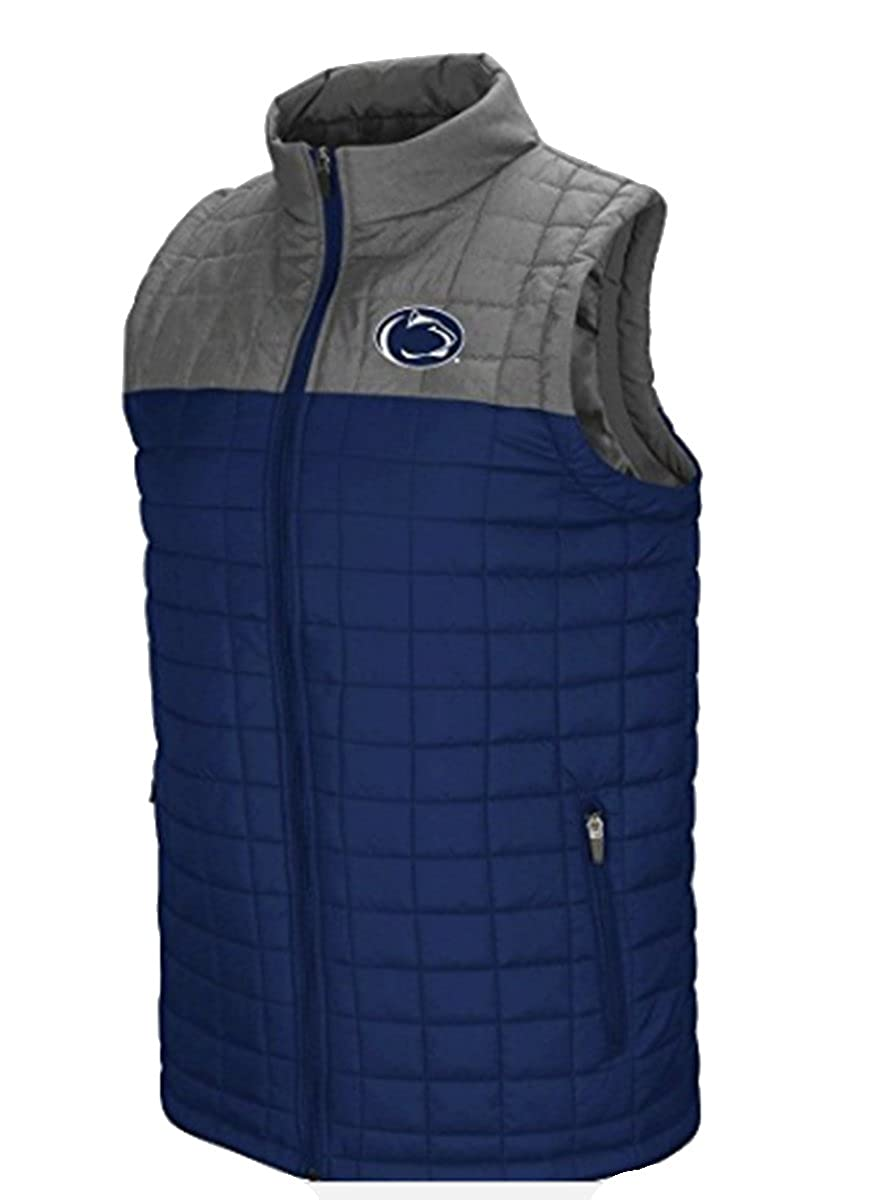 Penn State Nittany Lions NCAA Amplitude Men's Full Zip Quilted Puff Vest Colosseum