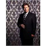 Boston Legal 8 x 10 Photo Boston Legal James Spader/Alan Shore Black Suit Diagonal Striped Tie Vintage Wallpaper Pose 3 kn