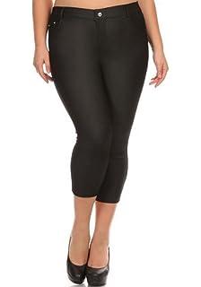 442554b436675 curvyluv.com Sale Women Plus Size Capri Length 5 Pocket Cropped Jeggings  Leggings Skinny