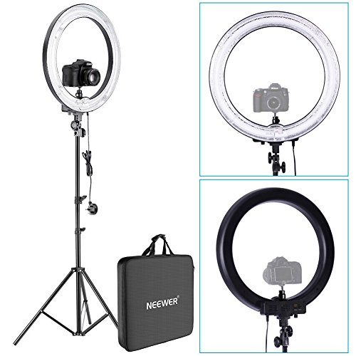 Neewer Photo Video Ring Fluorescent Flash Light Kit, includes (1)18in/45cm...