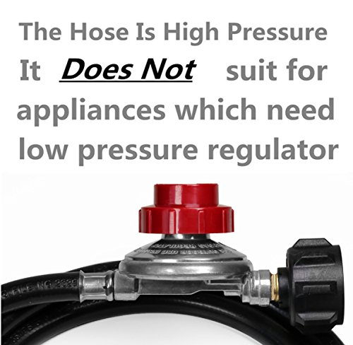 DOZYANT 5 Feet 0-20 PSI Adjustable High Pressure Propane Regulator Hose QCC1/Type1 Propane Tank Cylinder Fits LP Gas Grill Turkey Fryers Patio Heaters More Appliances-Safety Certified by DOZYANT (Image #4)