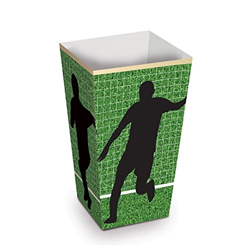 Soccer Party - Popcorn Box 2 x 2 x 4 inches Approx. - 10 Pack by Mama & Mia Premium Party Supplies