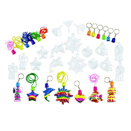 Colorations Sand Art Necklace and Key Chain Art Activity Group Variety Pack (28 Piece) ()
