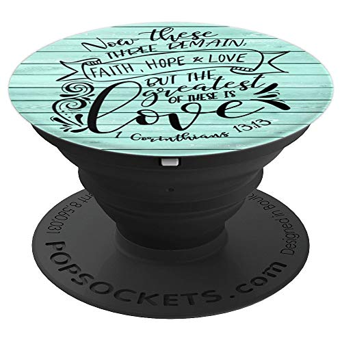 Inspired To Grace Cute Unique & Modern Lettering & Calligraphy Christian Bible Verse Word Art PS0307 - PopSockets Grip and Stand for Phones and Tablets