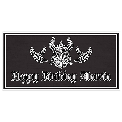 Medieval Viking Birthday Banner Personalized Party Backdrop