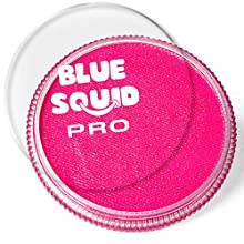 Blue Squid PRO Face Paint - Classic Pink (30gm), Superior Quality Professional Water Based Single Cake, Face & Body Makeup Supplies for Adults, Kids & SFX