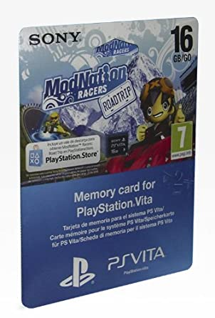 PS Vita - Tarjeta De Memoria De 16 GB + ModNation Racer RT Voucher ...