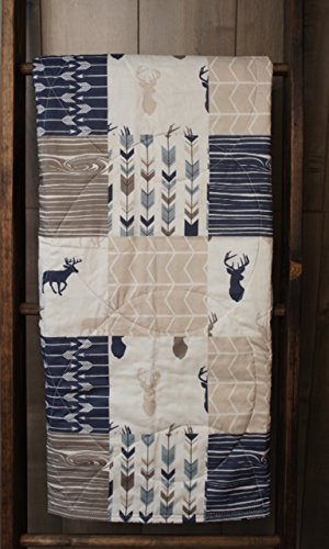 Baby Boy Hunting Quilt, Baby Quilt, Woodland, Deer, Moose, Arrow, Chevron, Baby Bedding, Crib Bedding, Babylooms
