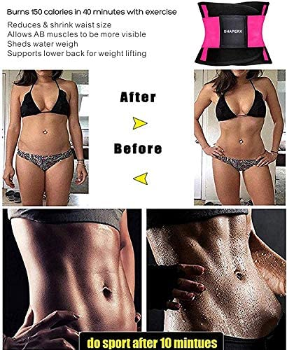 SHAPERX Women Waist Trainer Belt Waist Trimmer Slimming Body Shaper Sports Girdles Workout Belt