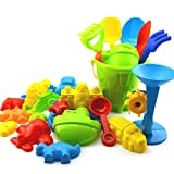 iTemer Set of 25 Baby Childen Beach Toys with Bucket Shovel Mould Play Sand Toys Assorted Colors