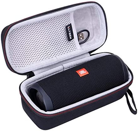 Speaker and Accessories not Included Silicone Case Compatible for JBL FLIP 5 Waterproof Portable Bluetooth Speaker Travel Carry Pouch with Strap Gel Soft Skin Cover Waterproof Rubber Case