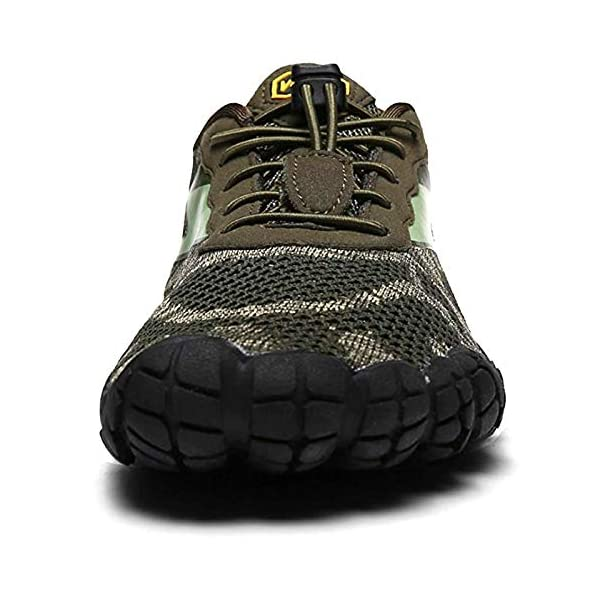 Oberm Men's Trail Running Shoes Minimalist Wide Toe Box Barefoot Trainers Water Shoes