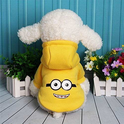 (Cowmole Co. Cartoon Dog Clothes for Small Dogs Winter French Bulldog Jacket Dog Halloween Costume Chihuahua Puppy Hoodies Pet)