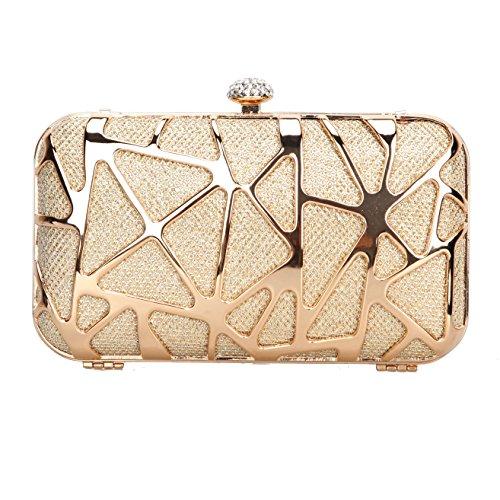 Fawziya Water Cube Mini Glitter Box Purse Fashion Clutch Bags For Women Evening Bags-Gold