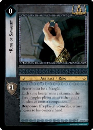 LOTR TCG ROS RISE OF SARUMAN RING OF SAVAGERY 17RF17 (Rings Rise)