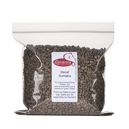 Lavanta Coffee Roasters Decaf Sumatra Green Direct Trade Coffee, 2lb (Green Coffee Best Share)