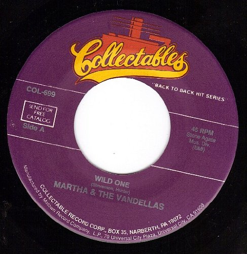 Wild One/Third Finger Left Hand (Martha And The Vandellas Third Finger Left Hand)