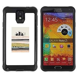Suave TPU GEL Carcasa Funda Silicona Blando Estuche Caso de protección (para) Samsung Note 3 / CECELL Phone case / / Abstract Modern Art City Field Meaning /