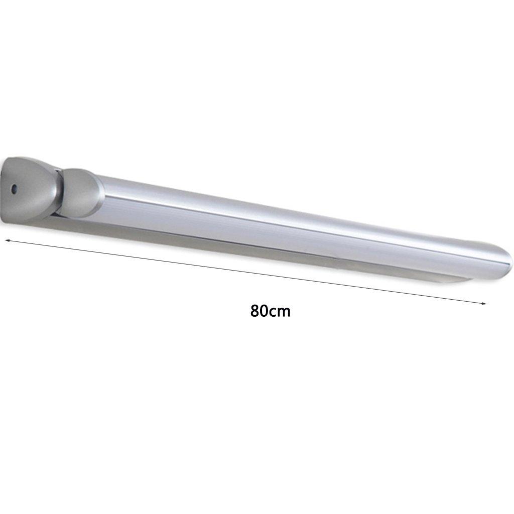 Farbe : Warmwei/ß-Long80cm Badezimmerspiegel Lampe WC-Toilette Nordic einfache Loch-free Badezimmerschrank Spiegel Lampe L/änge 50 // 55.1 // 60//70 // 80cm Wasserdicht Anti-Beschlag HJHY Spiegel-Frontleuchte LED