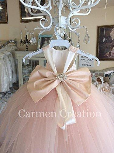 Mini Bride Flower Girl Dress Blush Pink NB