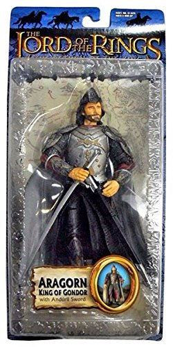 Lord of the Rings Trilogy Return of the King Action Figure Series 2 Aragorn King of Gondor with Anduril Sword]()