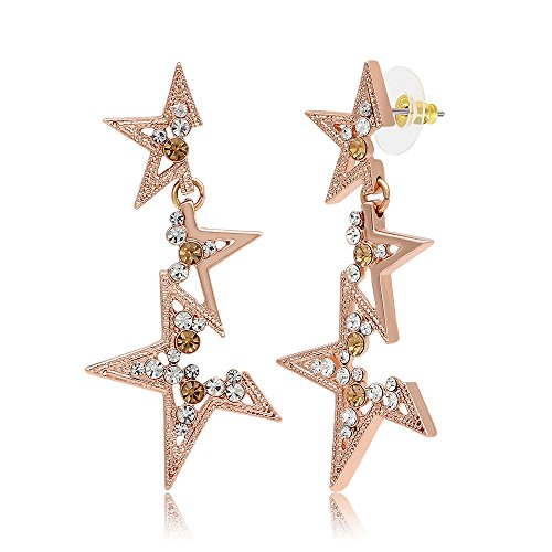Kemstone Rose Gold Crystal Elements Fragmentary Star