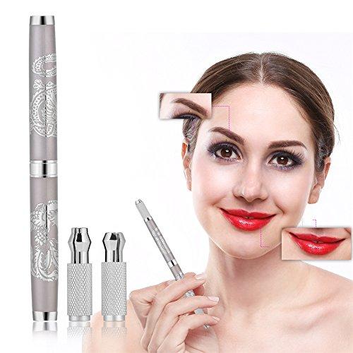 Fog Eyebrow Tattoo Pen, Dual-end Eye Liner Permanent Microblading Tattoo Gun Manual Makeup Tool