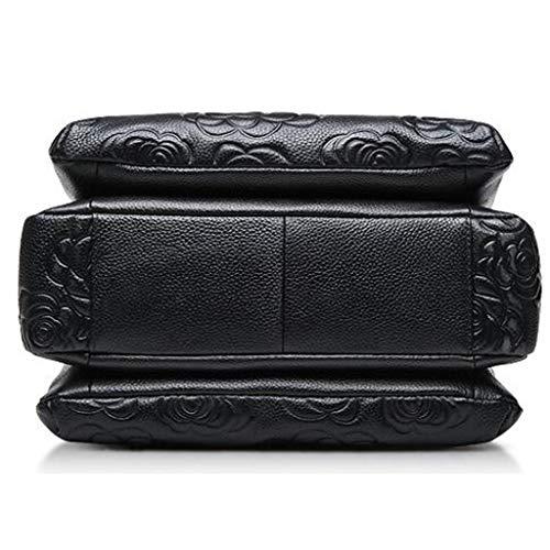 Leather Shoulder Women's Embossed Versatile Bag Handbag Ixqtw4ftF0