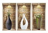 nice art decor wall ideas 3D Wall Art, Niche Sticker Set, 3D Wall Decor, Wall Decals Living Room, Wall Decals for Bedroom, Vinyl Wall Decals, Vinyl Stickers, Wall Stickers (Wall decals vase)