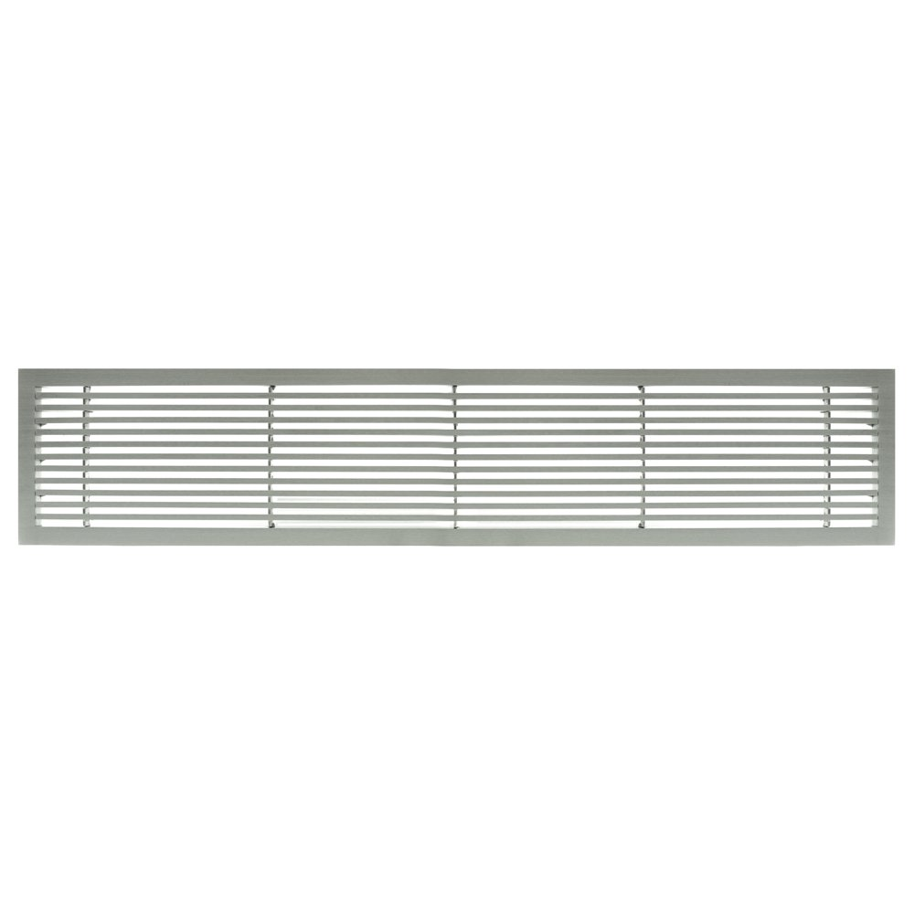 Architectural Grille 200062401 AG20 Series 6'' x 24'' Solid Aluminum Fixed Bar Supply/Return Air Vent Grille, Brushed Satin
