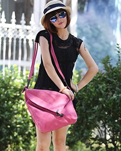 Canvas Casual Bags Messenger Bag Shoulder Classic Crossbody ZongSen Unisex Rose Hobo YXqaxwzEt