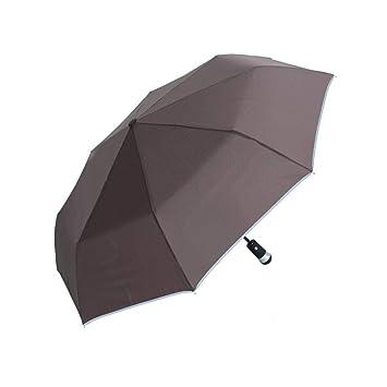 PZXY Paraguas Plegable Personalizado por ciento Regalos de Negocios creativos de Moda led Paraguas Transparente 65