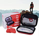 Camping First Aid Kit, 150 pieces Emergency Survival Kit FDA Certification for Hiking, Home, Office, Workplace, Car, plus 2 pill cases by REBEN DEFENDER