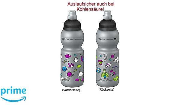 Fizzii Niños 330 Plata plástico botella caño seguro en carbón Acid, sin sustancias nocivas, apto para lavavajillas, animales Mundo, 330 ml: Amazon.es: ...
