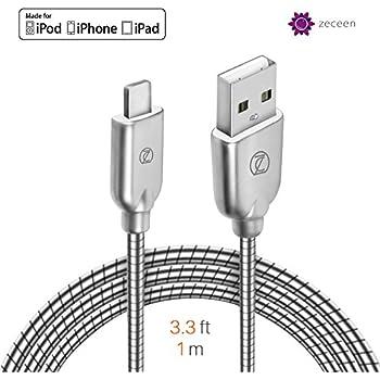 Amazon Com Zeceen Metal Usb Lightning Cable Fast