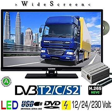 Telefunken l24h274/24 V DVD LED TV de 24 pulgadas 61 cm Widescreen Pantalla, TV con